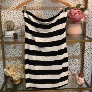 Trina Turk stripe body con dress